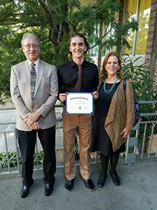 Miles Wolf awarded scholarship